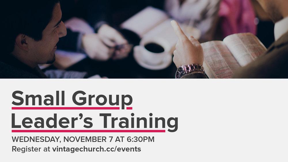 Small Group Leadership Training - Promo NOV 7.jpg