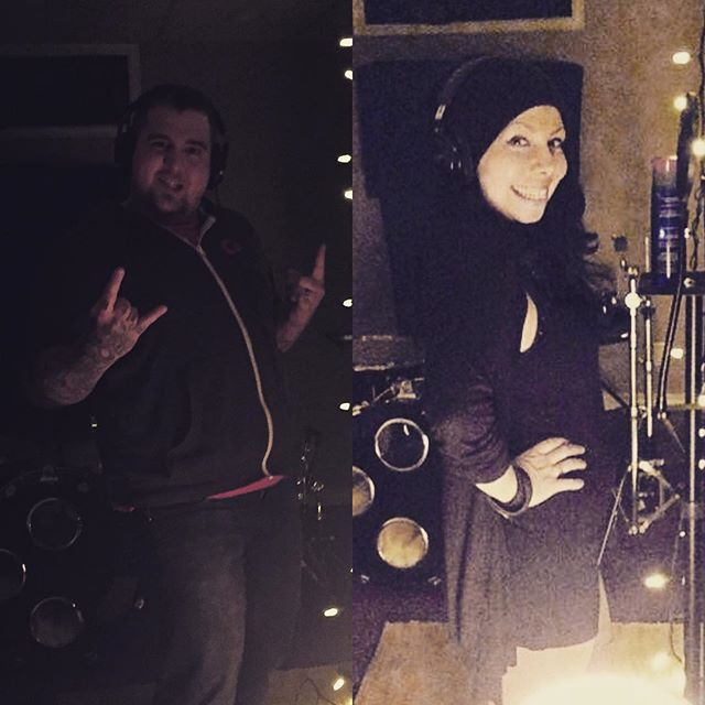 Vocal combo finishing up the new single @quinncmusic #halc #recording #yegmetal #yegmusic #vocals #vox
