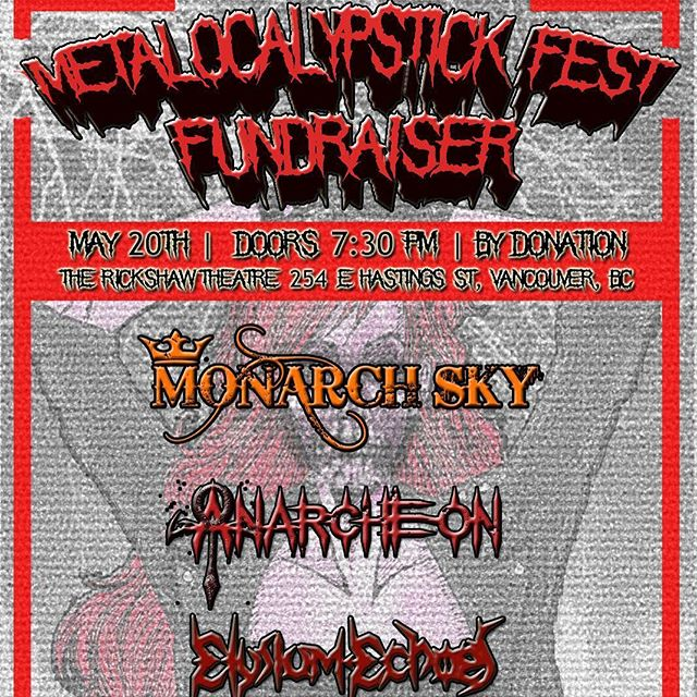 #Vancouver, we're coming to melt faces this weekend! Looking for something to do? Come support the #canadianmetal scene this Friday at #rickshawtheatre #yvrmusic #yvrmetal #vancouvermusic #vancouvermetal #metalocalypstickfest #yvrfundraiser #fundraiser #metal #metalbabes