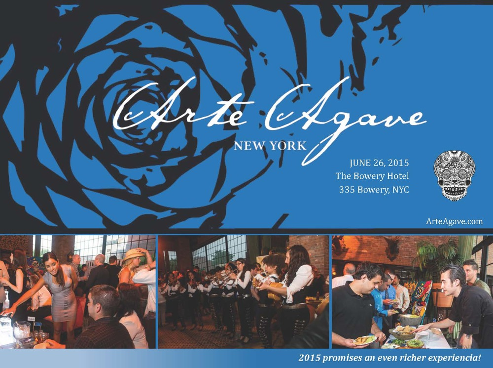 ARTE AGAVE: JUNE 26, 2015 ALL PACKAGES ARE NOW SOLD OUT!