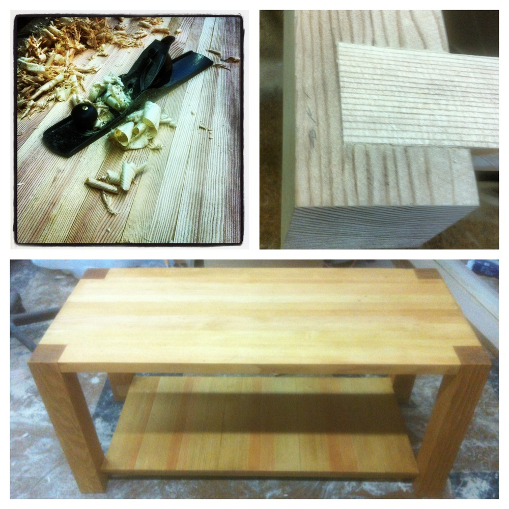 Douglas Fir coffee table.
