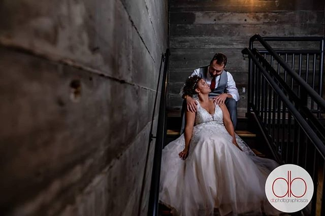 When in doubt, find the staircase. Instant mood creator! #yegwedding