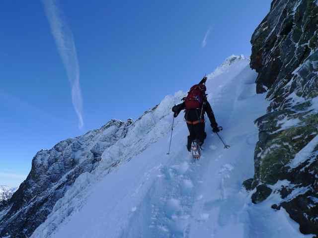 Gaining the NW Ridge