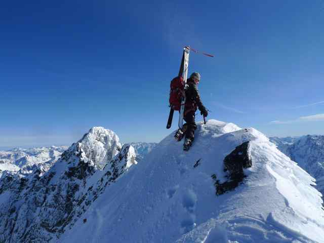 Jason atop the West Peak of Bonanza