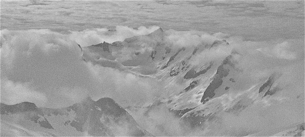 Forbidden Peak in the clouds