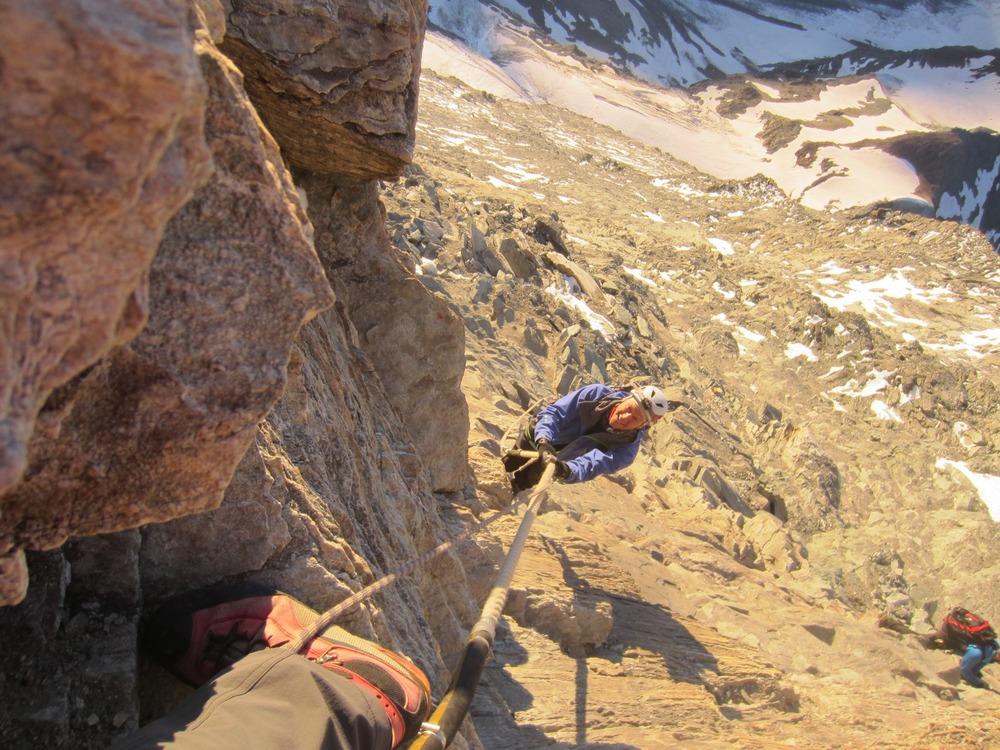 high on the Matterhorn