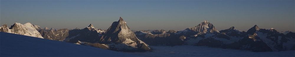 Click to Enlarge: Sunrise from Monte Rosa