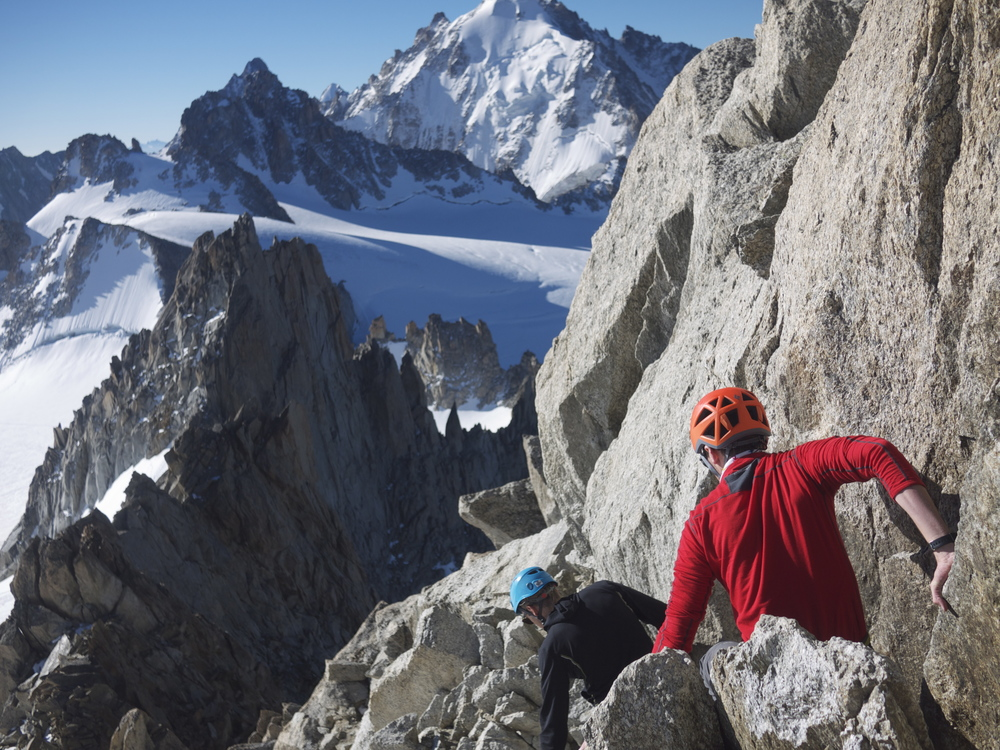 Descending the Aiguille du Tour