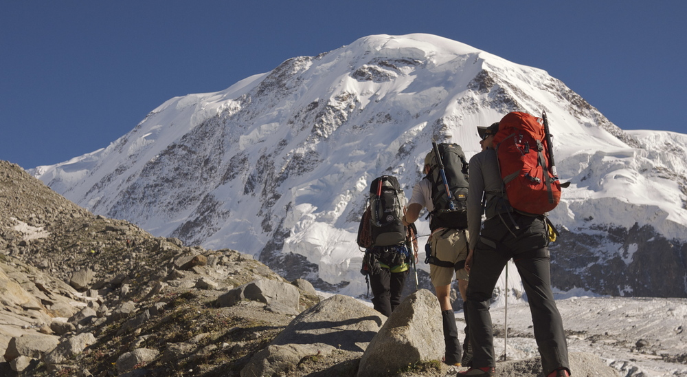 Heading for the Monte Rosa Hut