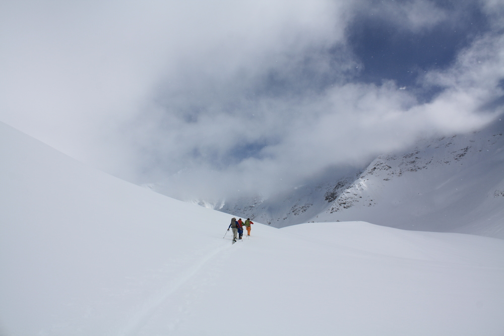 Touring above the Branca Hut