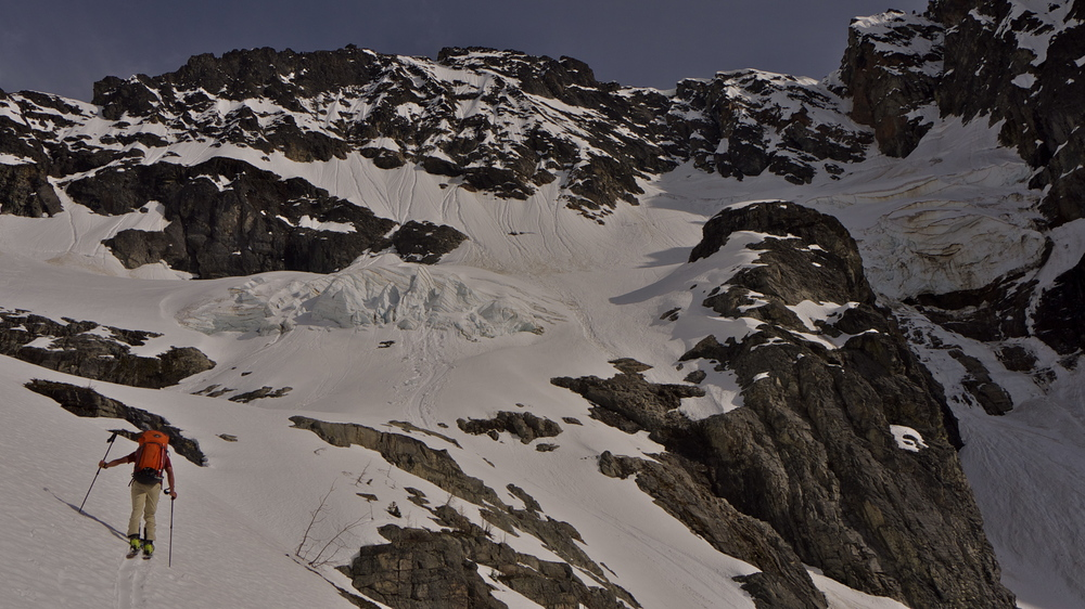 Nearing camp in the NW cirque of Black Peak.