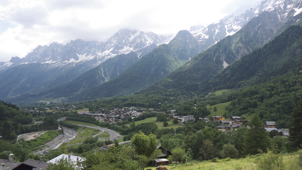 We begin the tour in Chamonix, a busy mountain mecca at 1000m of elevation.
