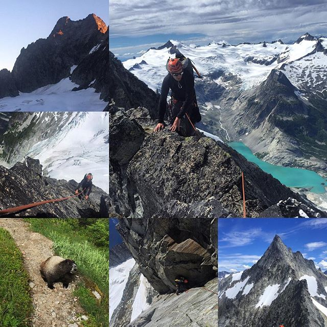 """Best quote from the Torment-Forbidden traverse: """"Can something be relaxing and exhilarating at the same time?"""" Yes, yes it can. For my part, as someone who makes the comment """"Nice"""" about 70-80 times a day, I find it a little unsettling to travel all day on gneiss. #homophones #loveallmyneighborhoods"""
