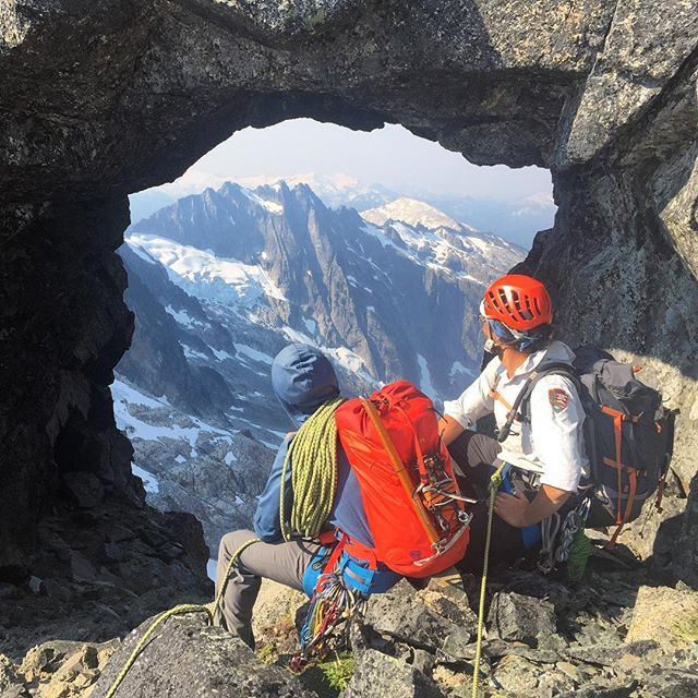 Moments before entering the portal to a hidden world on the AMGA Advanced Alpine Guides Course. #amga1979