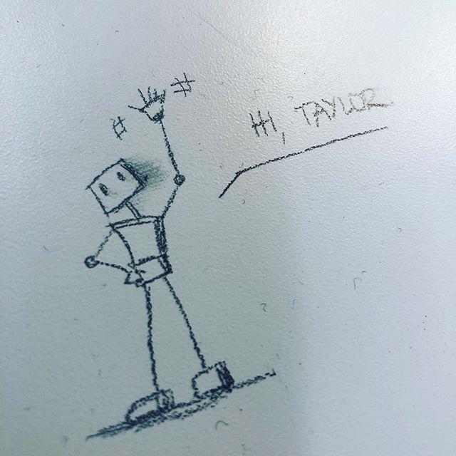 Thanks for the desk doodle @jordimo! Also... hi.