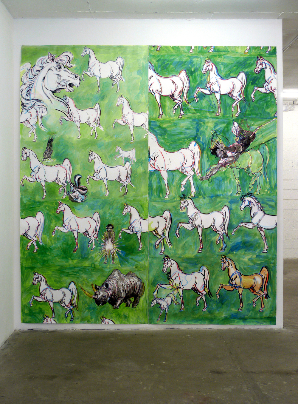 Looks Like We Are Shy of One Horse Ink on paper 2012