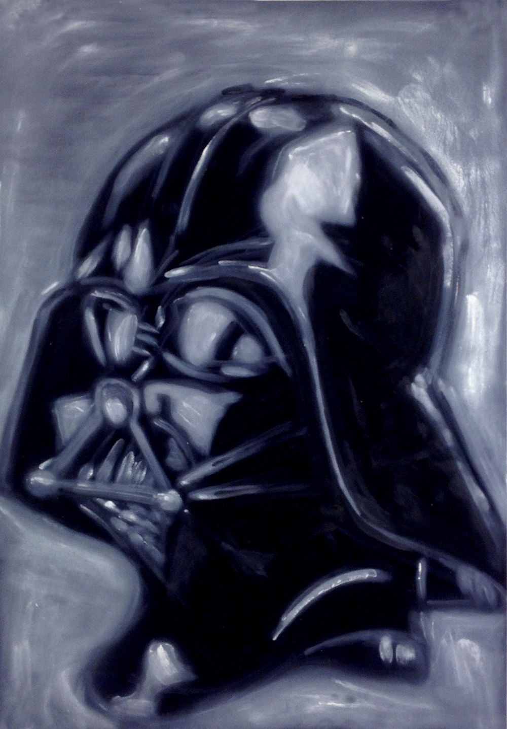 Darth Vader Oil on velvet 2012