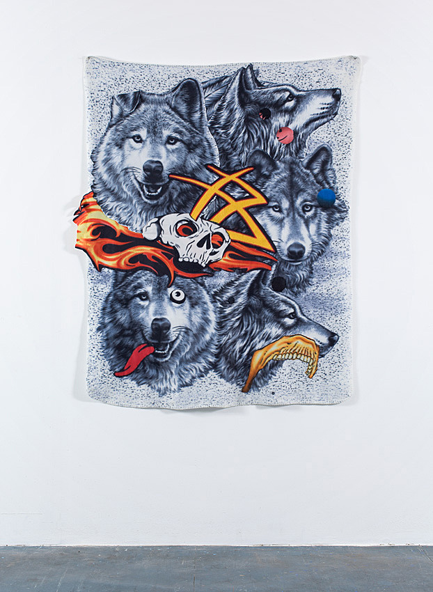Wolf's Tongue     2009; Fabric assemblage; 60 X 48 in.