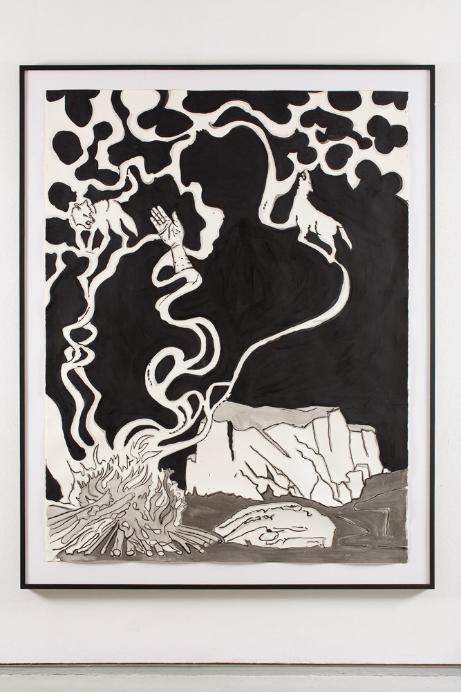 Smoke    2008; Acrylic on paper; 80 X 60 in.
