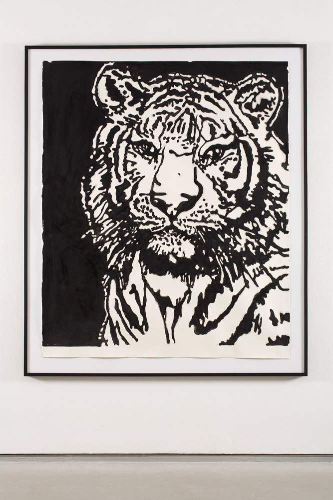 Tiger  2008; Acrylic on paper; 80 X 60 in.