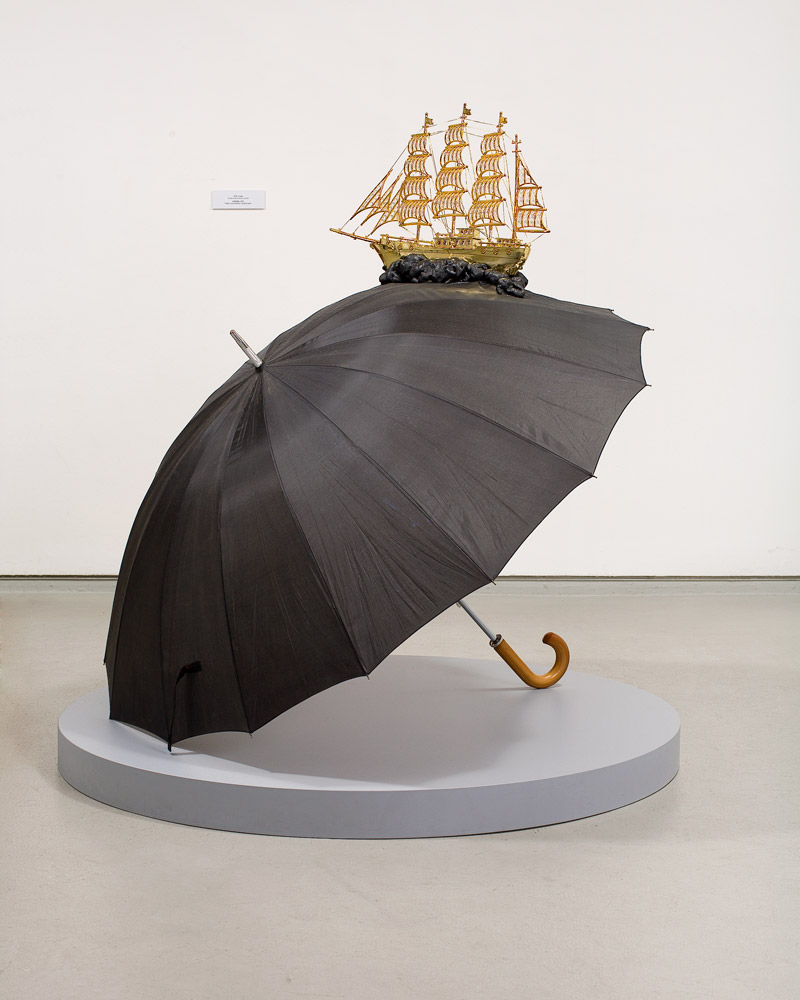 Umbrella    2006; Mixed Media  ; 47 X 55 X 63 in.