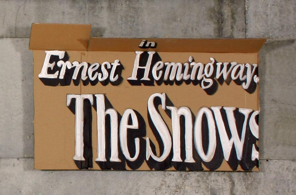 """Ernest     2004; Acrylic on cardboard; 43 X 25"""""""
