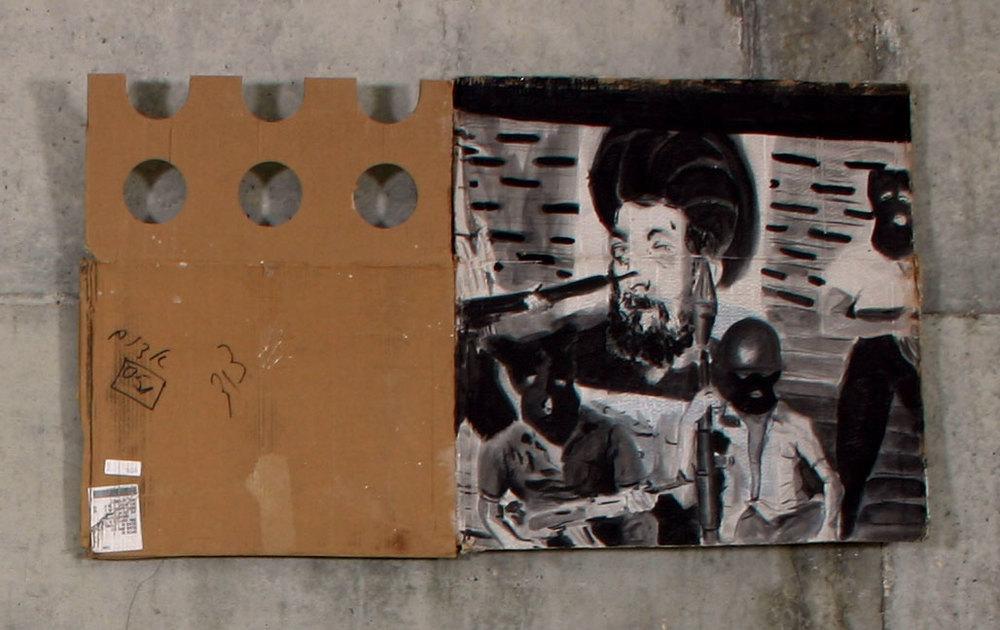 """Terror     2004; Acrylic on cardboard; 41 X 22"""""""
