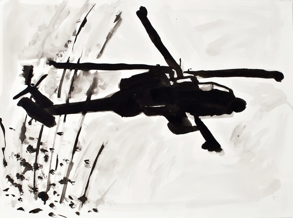 Life Sentence    Detail; Ink on paper; 2012