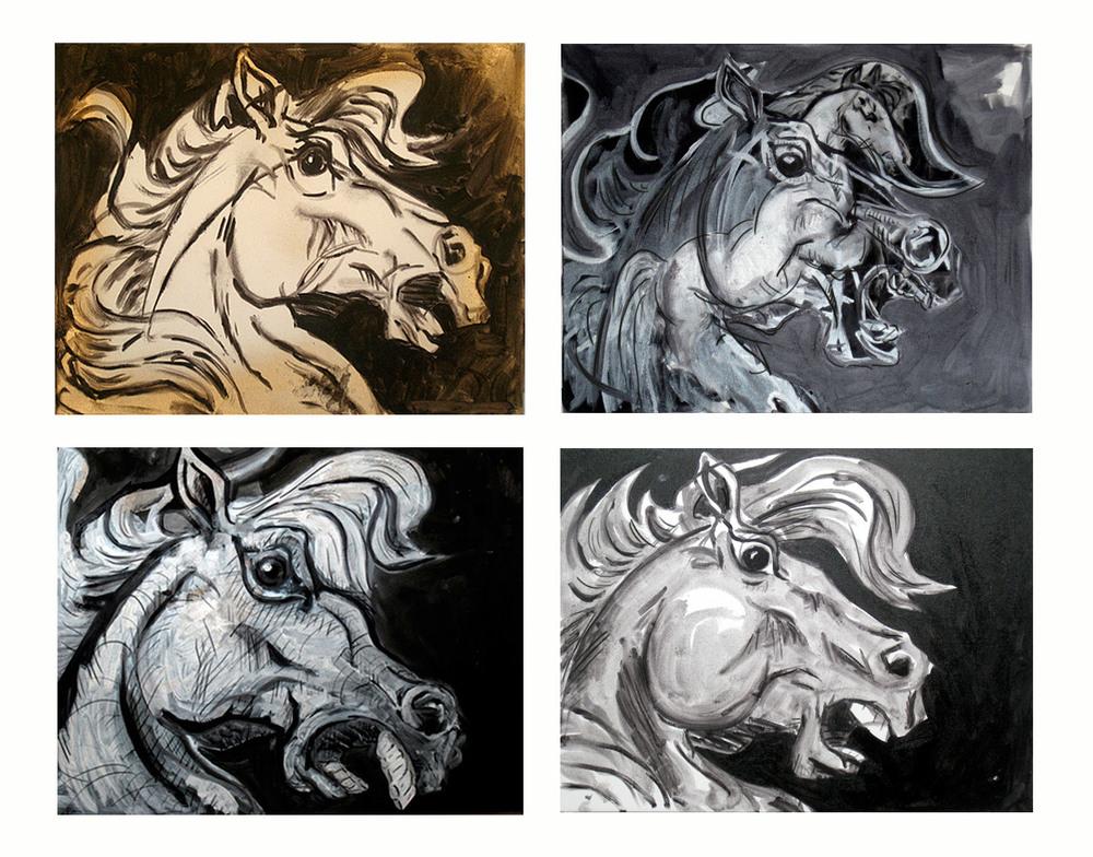 Four Horses    Oil on canvas, 2012