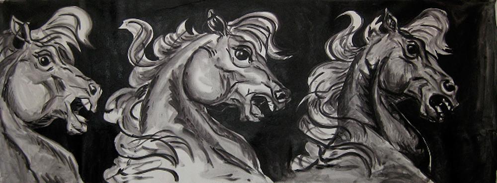 Three Horses    Oil on canvas