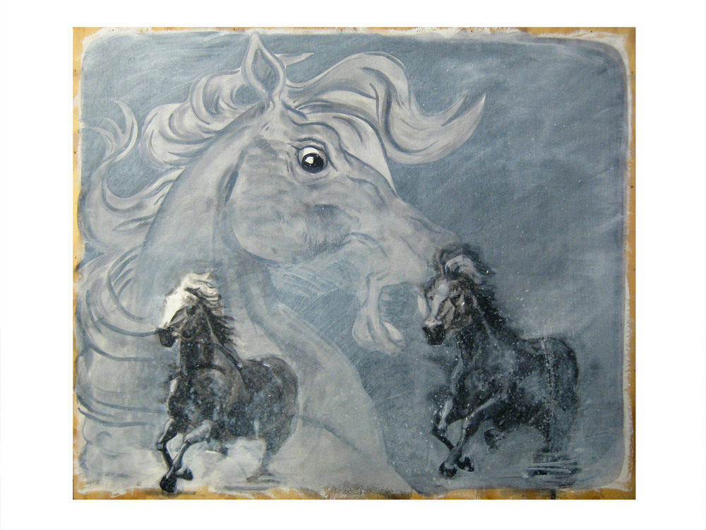 Horse Dream    Oil on wood panel, 2012