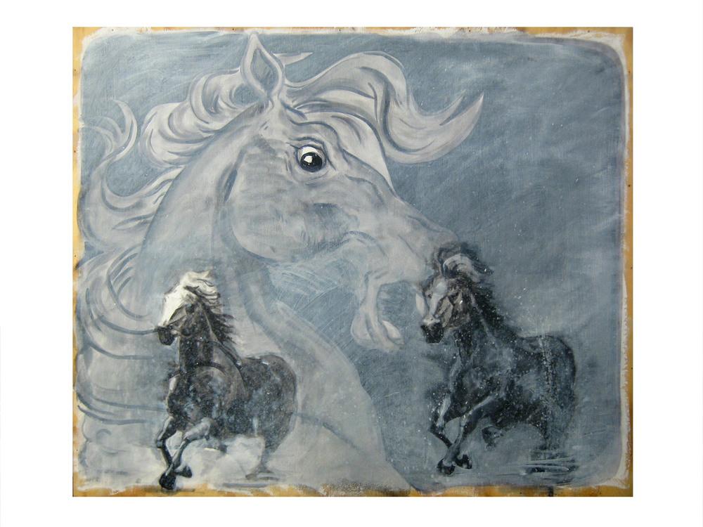 Horse Dream    Oil on wood panel, 2012
