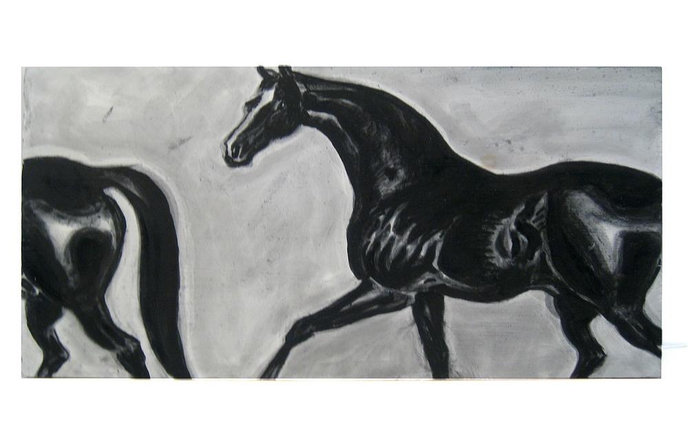 Horse & a Half    Oil on wood panel, 2012