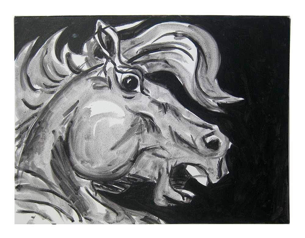 Horse Head    Oil on canvas, 2012
