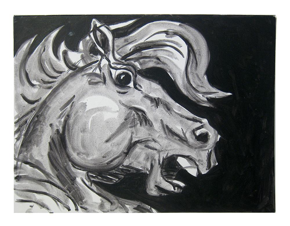 Horse Head    Oil on canvas, 2012