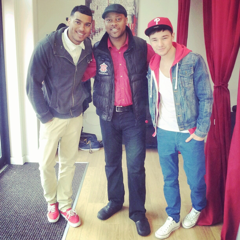 Damian meets and trims Marlon McKenzie & Lloyd Daniels - Xfactor