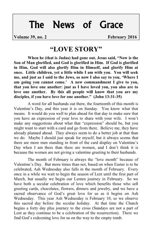 "The News of Grace - ""Love Story"""