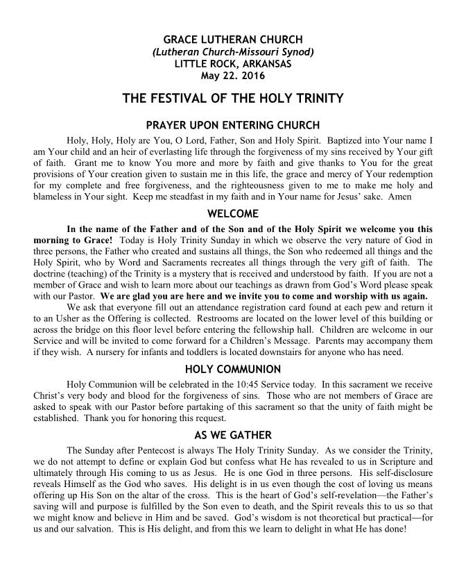 The Festival of the Holy Trinity