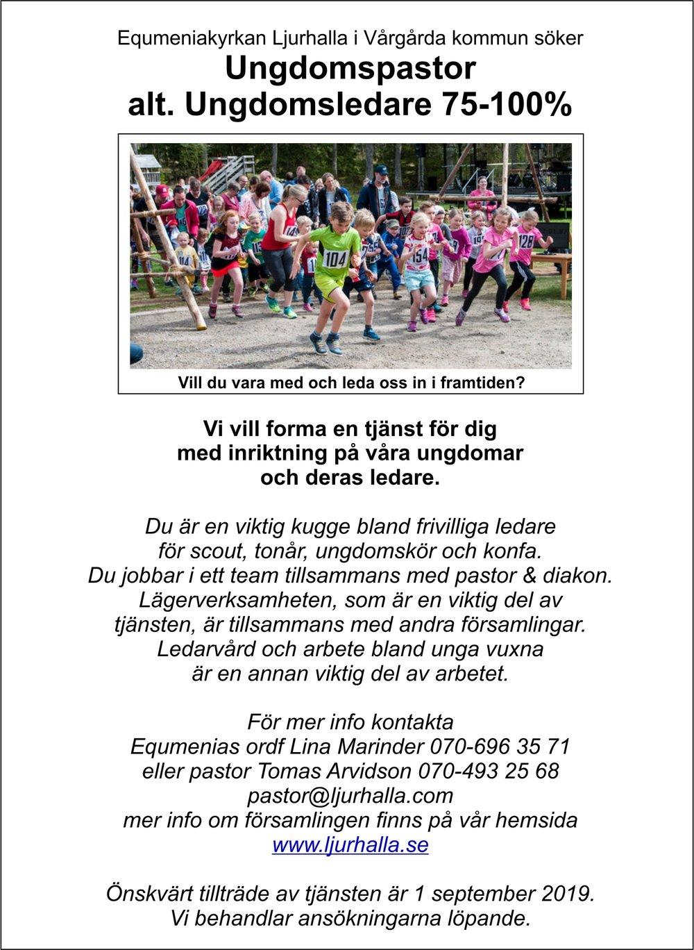 Ljurhalla annons ungdomspastor 2019 3.0.jpg