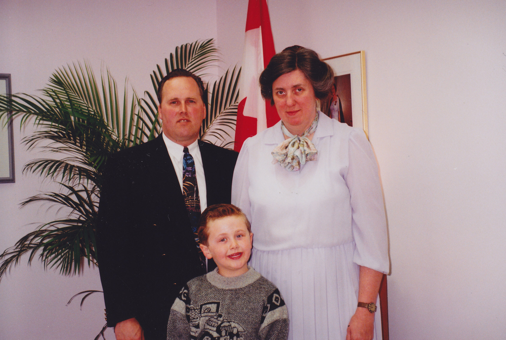 Rev. & Mrs. Bryson and Joel - 1992