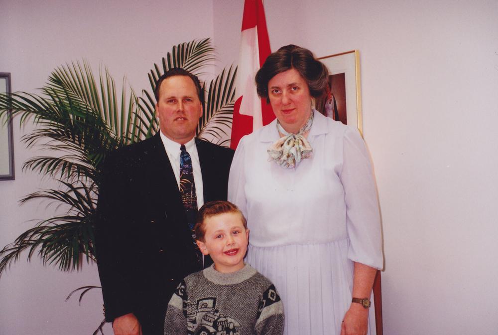 Rev. & Mrs. Bryson and Joel - 1992