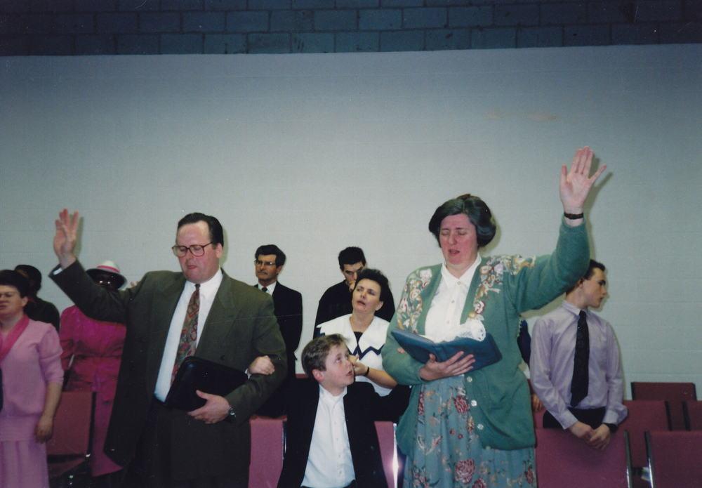 The Brysons installation service as Pastors of PLC - April 1992