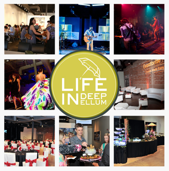 East meets West when Deep Ellum heads to Trinity Groves!  Life in Deep Ellum , a unique venue built for the artistic, offers a non-traditional and creative option for your upcoming wedding, meeting or event! They are turning their corner of The Green Warehouse out, so don't miss it!