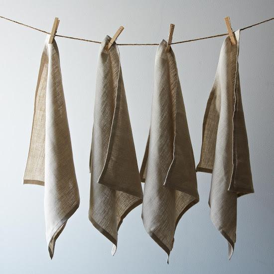 icemilk aprons linen napkins