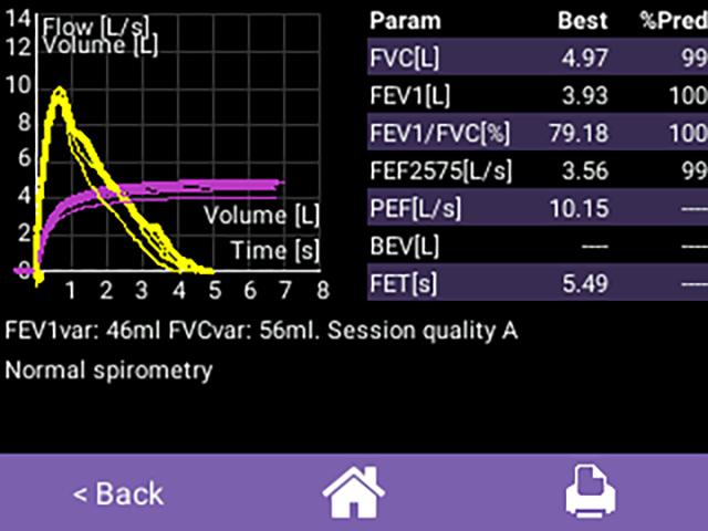 Spirometer Screenshot