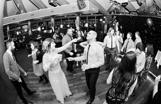 November 2014: Hitting the dance floor at Christi & Ray's wedding - Asbury Park, NJ