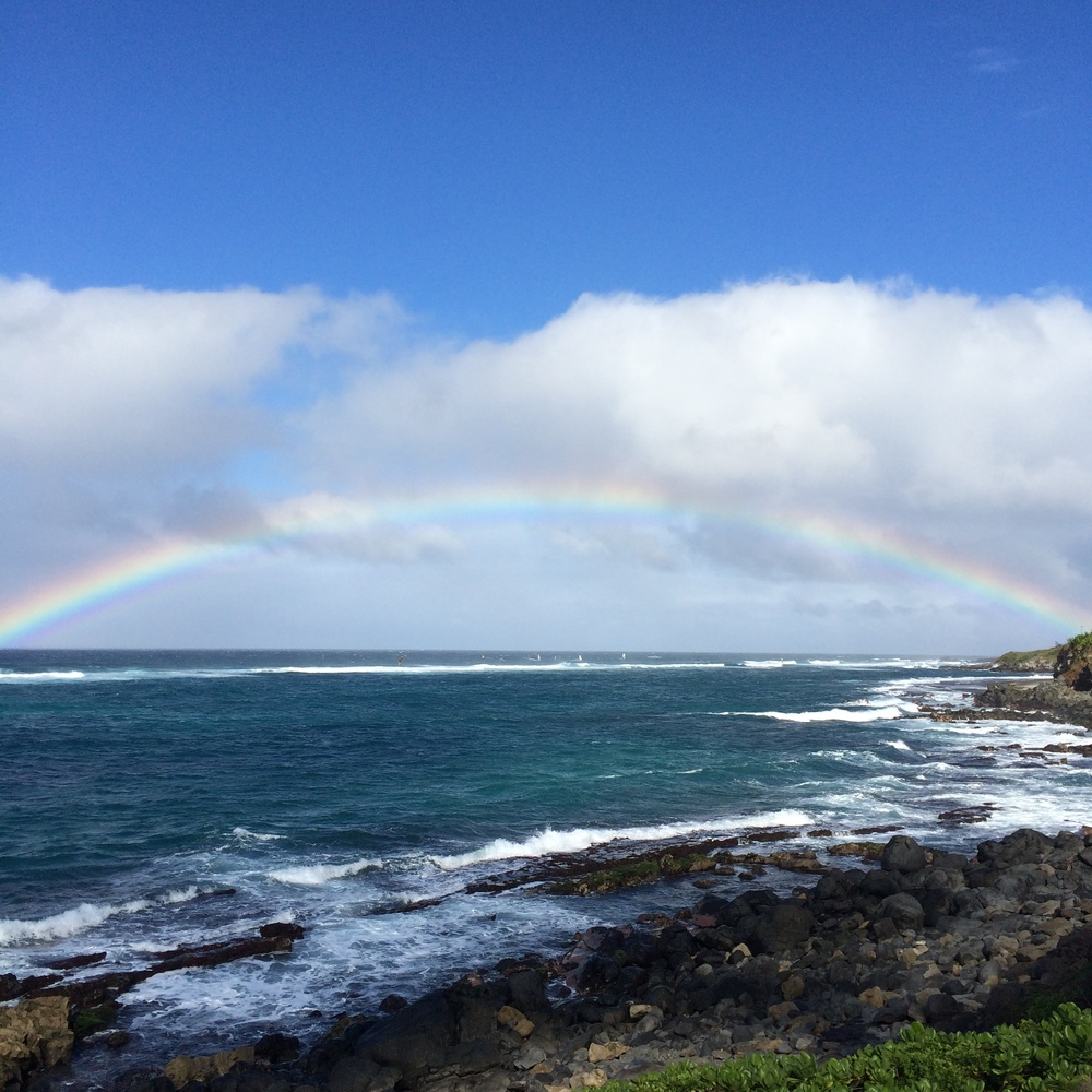 Rainbow over Paia.