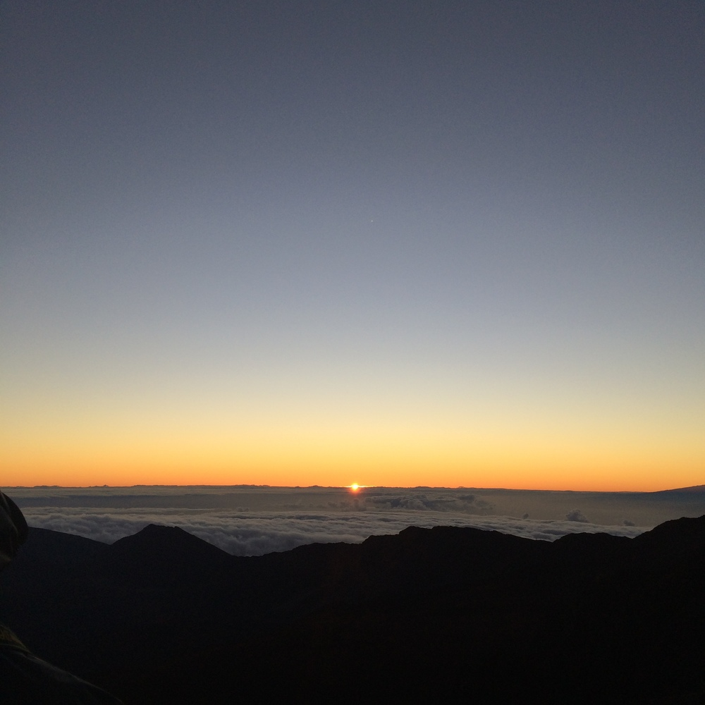 Sunrise over Haleakala.