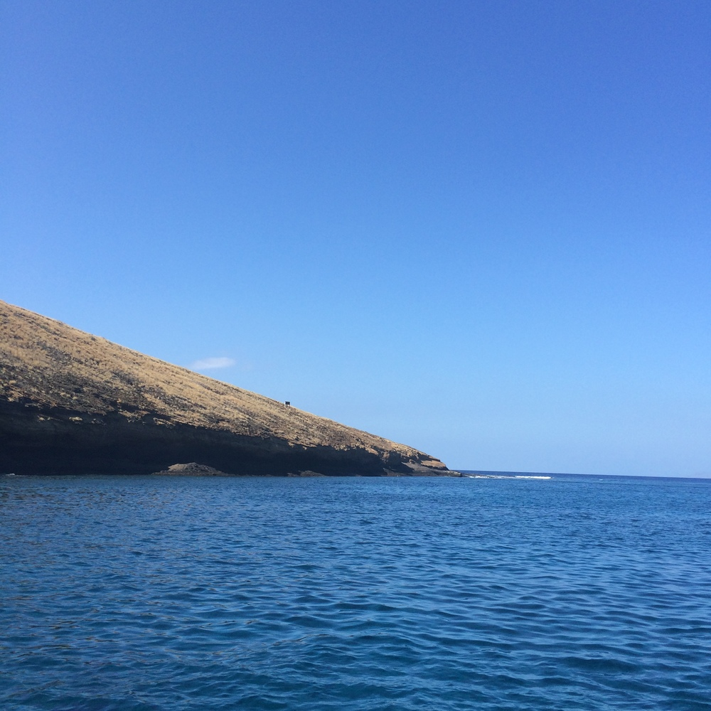 Snorkeling at Molokini Crater.