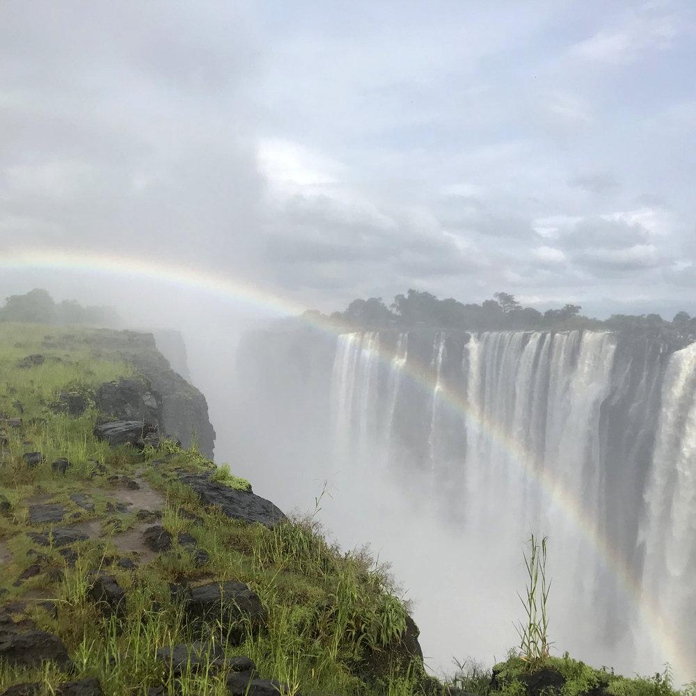 Rainbow at Victoria Falls.
